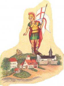 Symbolbild Heiliger Florian als Schutzpatron der Feuerwehren